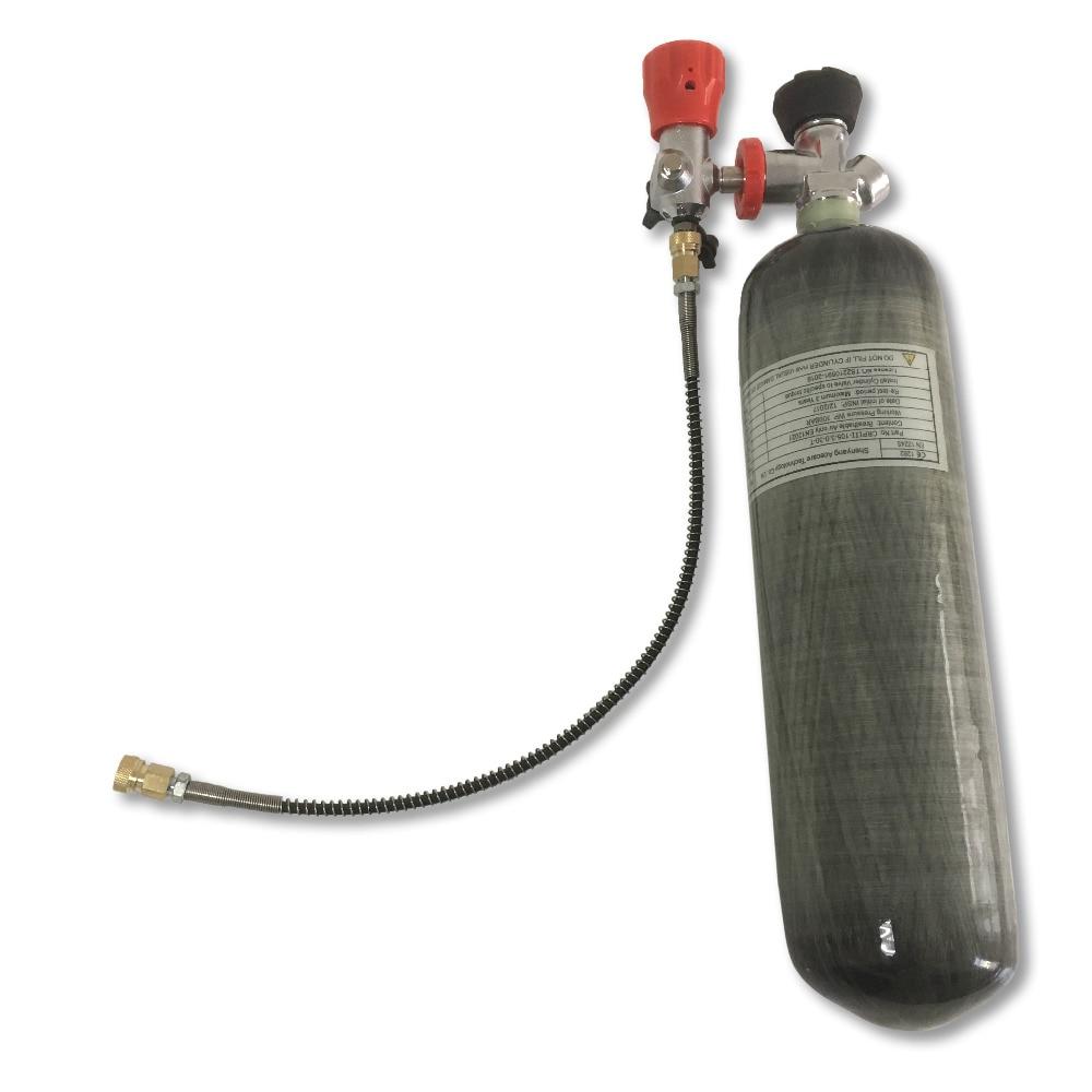 Лидер продаж Спорт на открытом воздухе 3l углеродного волокна цилиндра 4500psi Пневмопушка пистолет/дайвинг/Пейнтбол бак с клапаном и заполнит...