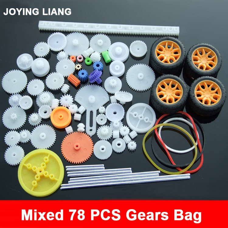 2017 New Mixed Different 78 Gear Package - Edition Toys Car Accessories All Kinds of Gear Motor Axle Belt Pulley Wheels all new all different avengers vol 2 standoff