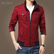 Red Casual Mens Jacket Coat Military Jacket Men Male Plus Size Winter Pilot Jackets Fashion veste homme Brand Outwear Coat 1081