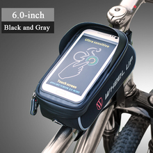 Mountain Road Bike Bags Waterproof Touch Screen Cycling Top Front Tube Frame 6.0 Phone Case Pouch  Accessories