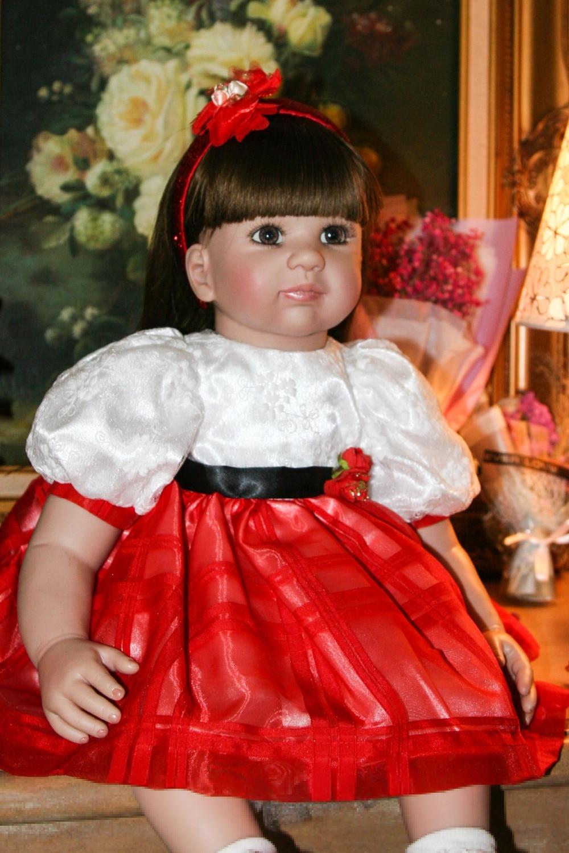 Nouveau créatif grande poupée 61cm Silicone reborn bébé poupées jouets réalistes bébés fille poupée renaître pour enfants Simulation jouets éducatifs