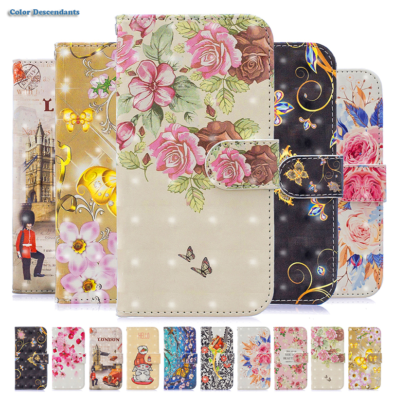 PU Leather Flip Cover Wallet Case for Samsung Galaxy A6 A8 A5 J510 J7 J3 J5 2017 J4 J6 Plus 2018 J330 J530 J730 Cases Etui Funda image