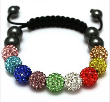 New arrival! muilti colour hot micro pave CZ Disco Ball Beads Bracelet fasion Gift jewelry Discount. crystal shamballa