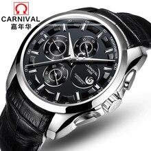 2017 новый бросился подлинная carnival часы мужчины автоматические механические часы мужские часы лучший бренд класса люкс relogio masculino часы