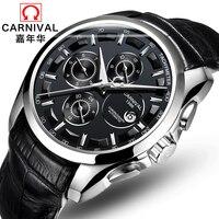 Genuine Carnival Watch Men Automatic Mechanical Watches Multifunctional Belt Fashion Men S Men S Retro Tide