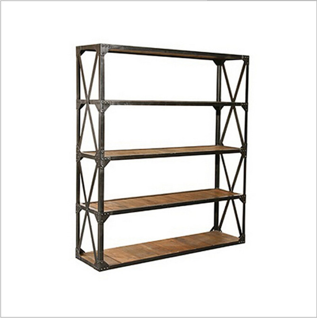 American Boutique French Country To Do The Old Wrought Iron Racks Shelf Bookcase Display