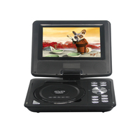 LONPOO 9 inch Portable DVD VCD Player with TFT Screen Display Support TV VCD CD MP3/4 USB GAME Mobile TV home DVD player