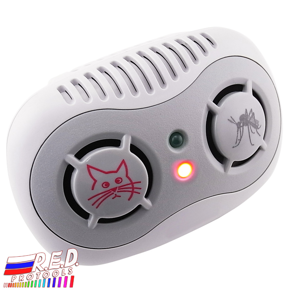 2-in-1 Electronic Ultrasonic Repeller Anti Mouse & Mosquito 50/ 60Hz, Rats Control, Plug-in Non-Toxic Repellent, Pet & Kids Safe
