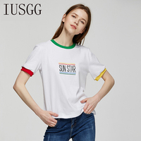 2018 Letter Printed SUN STAR Summer T Shirt Women Casual Lady O Neck Top Tees Cotton
