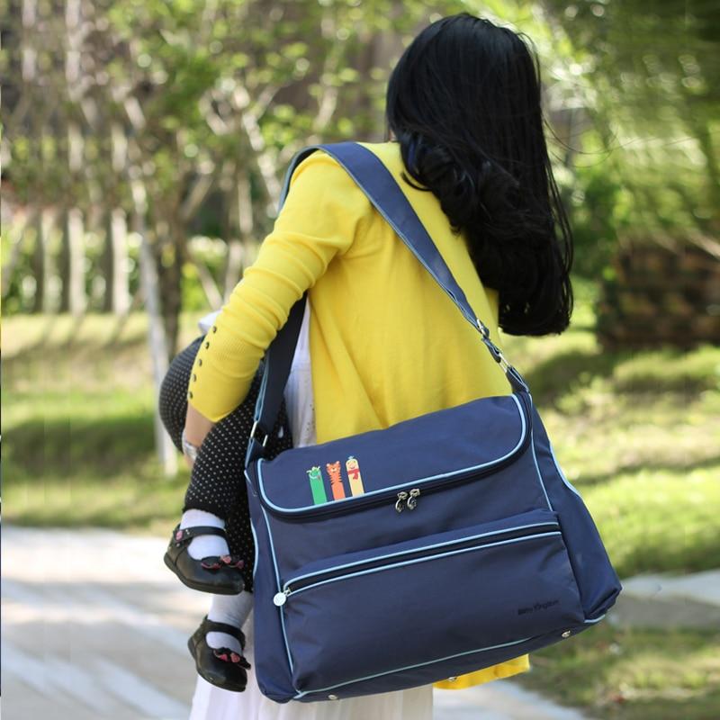 új brit stílusú divat vízálló pelenka táska Nagy kapacitású - Pelenkák és WC képzés - Fénykép 2