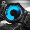 Ochstin novo conceito criativo unisex malha assistir relógio do esporte dos homens de moda de luxo da marca aço inoxidável relógios de quartzo relógio de homens
