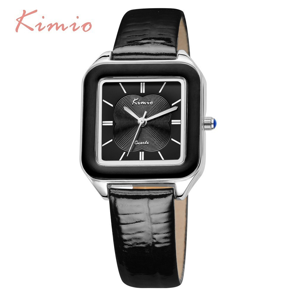 KIMIO Color Square Watch Women Fashion Womans Watch Ladies Watches Top Brand Luxury Leather Female Wrist Watch For Women Clock kimio women quartz watches leather dress watch fashion design ladies wristwatches 2017 luxury brand female gift clock kw518