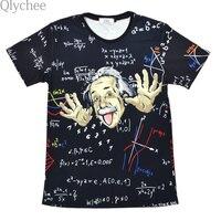 XXL Comical Albert Einstein T Shirt Men Funny Cotton Top Tees Short Sleeve The Big Bang