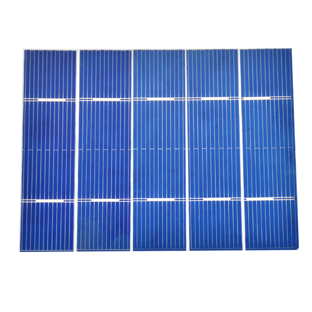 Aoshike 50Pcs 0.25W 76x19mm Solar Panel Kit Polycrystalline Poly DIY Solar Cells