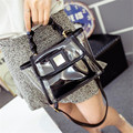 Transparent handbags wholesale 2016 summer new European jelly bag transparent bag handbag shoulder diagonal hot free shipping