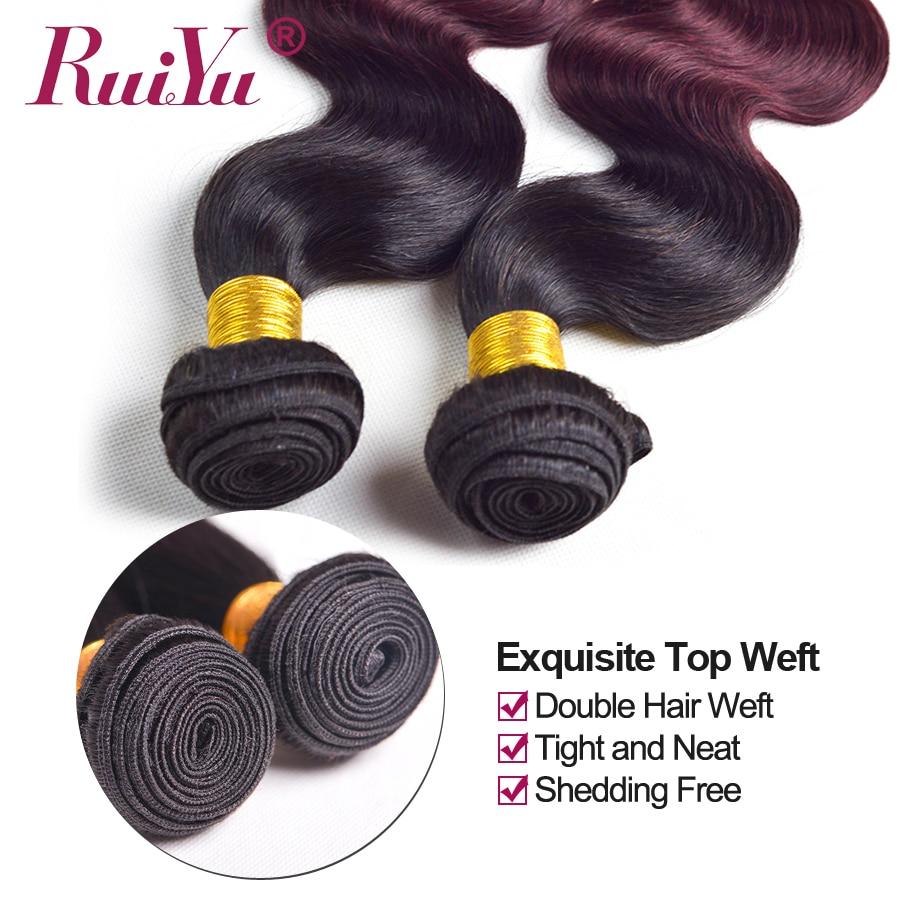 Flokët RUIYU Ombre Paketat e Flokëve Brazilianë të Valës së - Flokët e njeriut (të zeza) - Foto 6