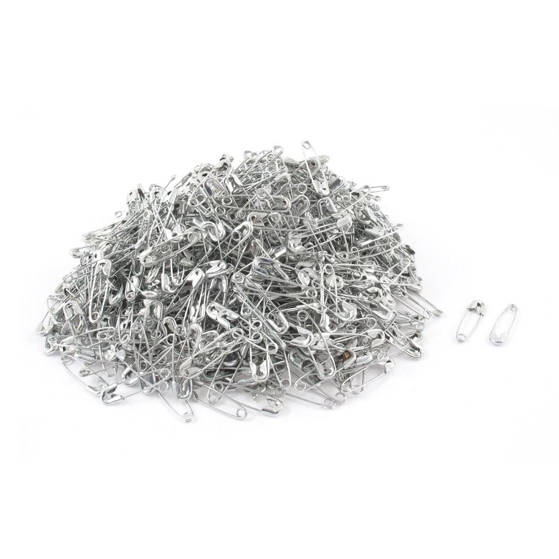 Boutique Metal Costume Sewing Dressmaking Craft Tiny Mini Safety Pins 1000pcs Silver Tone