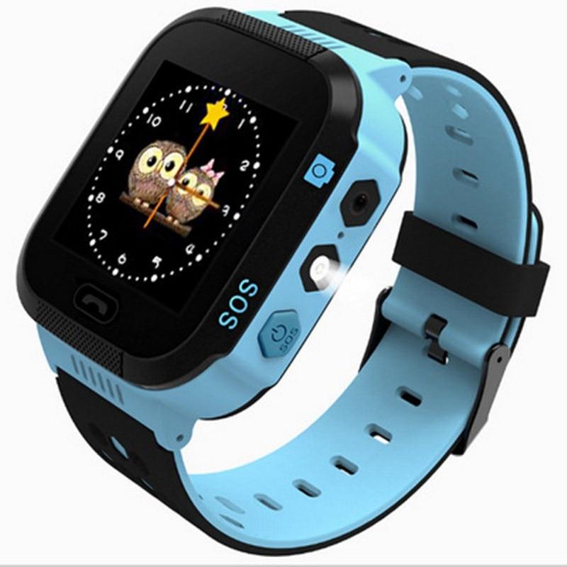 Enfants LBS Positionnement Support de Montre Intelligente Pour Android IOS SOS D'urgence Alarme Voix Chat Parler Sim Carte Montre Smart Watch Enfants