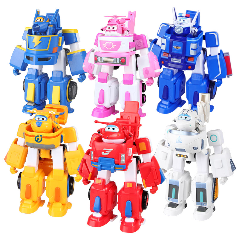 Transformation Armor Robot Action-Figures Fire-Engines-Toys Rescue Super-Wings