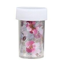 Elegant Pink Flower Shape Nail Art Beauty Stickers Nail Art Transfer Crafts Foils Full Wraps Polish DIY Accessory B87