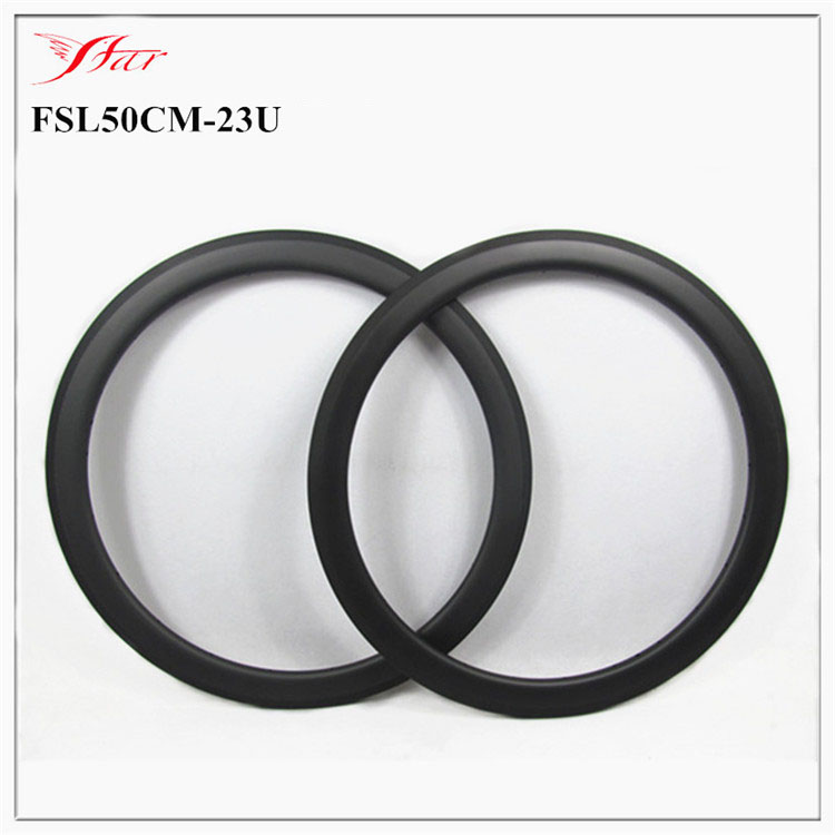 Farsports carbon cycling rims clincher 50mm x 23mm U shape with 4 degree , 3K / UD matt / glossy , 16 32H available