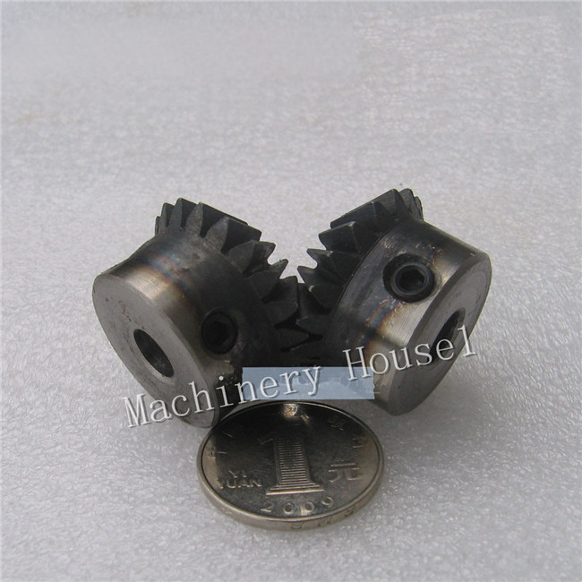 Bevel Gear a pair 24T Mod 1.5 M=1.5 ratio 1:1 Bore 8mm 12mm 45# Steel Right Angle bevel gear 15teeth 45teeth ratio 1 3 mod 2 45 steel right angle transmission parts diy robot competition m 2