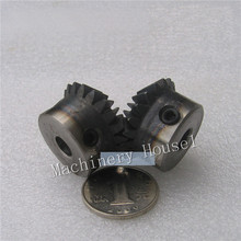 Bevel Gear a pair 24T Mod 1.5 M=1.5 ratio 1:1 Bore 8mm 12mm 45# Steel Right Angle