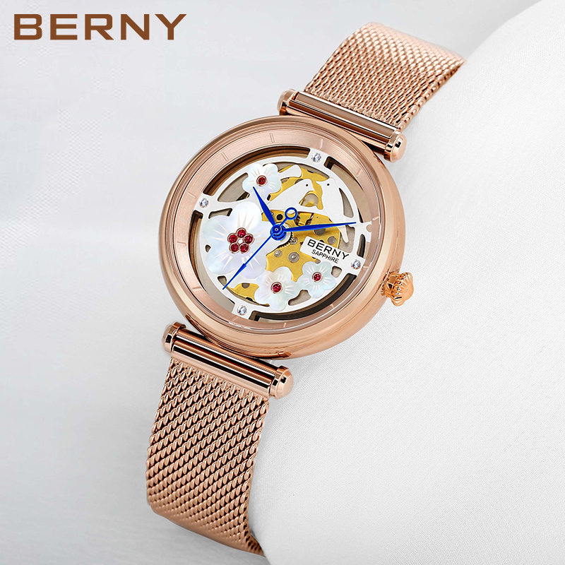 Berny Women Watch Quartz Lady Watches Fashion Top Brand Luxury Relogio Saat Montre Horloge Feminino Bayan