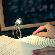 Bookmark Light Ultra-thin LED night light Folding curved book eye reading lamp For Travel Bedroom Book Read