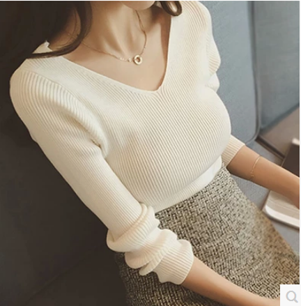 6005# V Neck Thin Knitted Maternity Nursing Sweaters Breastfeeding Bottoming Shirts Clothes for Pregnant Women Pregnancy Tops
