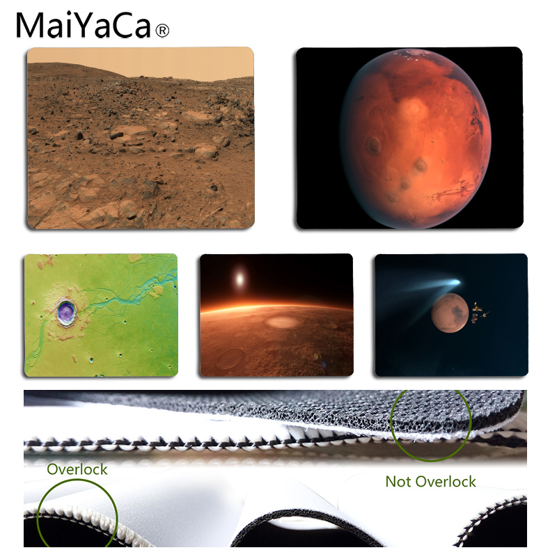 MaiYaCa Mars Rubber Mouse Durable Desktop Mousepad Size for 25x29CM Speed Version Gaming Mousepads