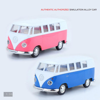 Hot 1 36 Scale Wheels Classic Vintage Diecast Cars MPV Microbus T1 Metal Model Pull Back