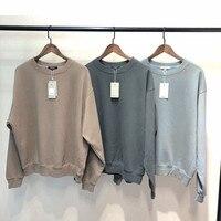SEASON6 Round neck Loose Sweatshirts Kanye West 2019 Hip Hop Solid Colors Men Sweatshirts Cotton Vintage Harajuku Loose Unisex