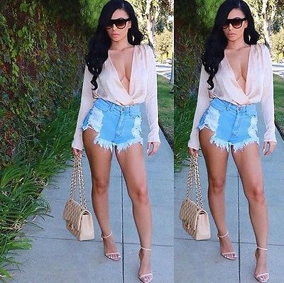 Compare Prices on Denim High Waisted Shorts- Online Shopping/Buy ...