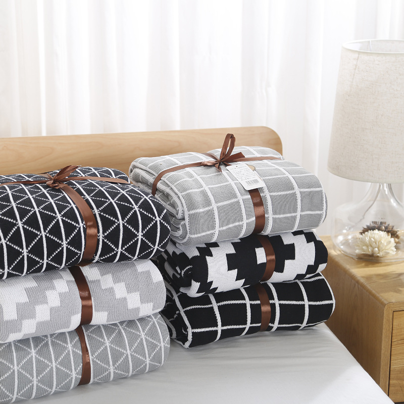 Bed Blankets, Bedspread, Plush Cotton Throw, Soft Cotton Cozy Blanket new 2017 throw blanket 1piece 140 190cm cotton gauze terry blankets super soft dotted adult blanket 140 190cm brand