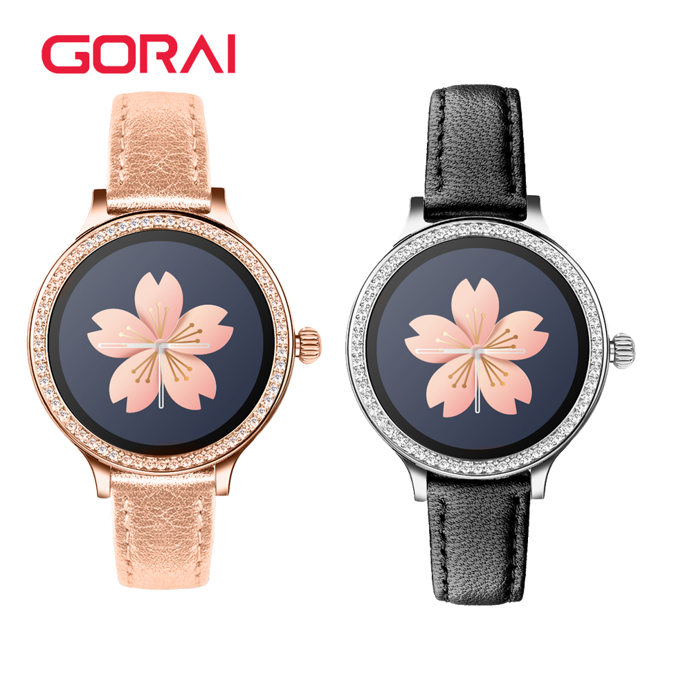 Goral <font><b>M8</b></font> <font><b>Smart</b></font> <font><b>Watch</b></font> Fashion Fitness Tracker Heart Rate monitor Smartwatch women for Android ios phone pk Q8 KW18 image