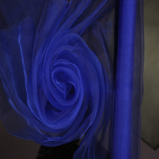 Royal Blue ORGANZA For Background Of Wedding Decoration 072 M X110 Meters Roll
