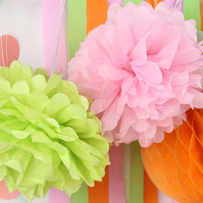 Aliexpress Buy First Birthday Party Decoration Set Banner Crepe Paper Tissue Pom Girls Boys 1st Photo Background From