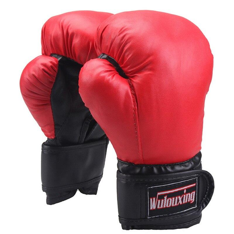 Wnnideo Прихватки для мангала для детей Размеры на 3-10 л. из искусственной кожи Guantes якорную Boxeo Муай Тай Каратэ Тхэквондо обучение Бокс перчатки