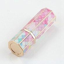 ריק שפתון צינור 12.1mm סולם צבעוני שפתון צינור 3D הדפסת שפתון מיכל ריק שמונה צדדים שפתון אריזה 30 pc
