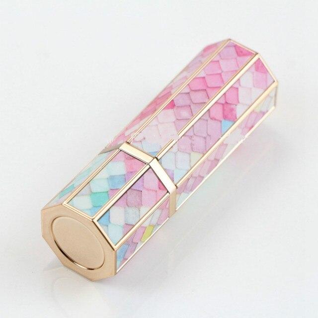 빈 립스틱 튜브 12.1mm 다채로운 규모 립 밤 튜브 3d 인쇄 립스틱 컨테이너 빈 여덟 측면 립 밤 포장 30 pc