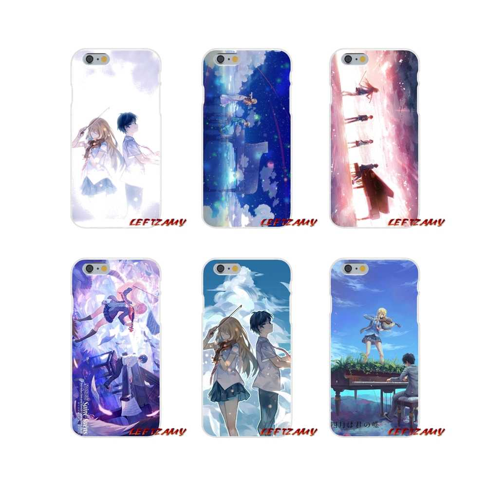 Accessories Phone Cases Covers Cute Kawaii Your Lie In April Wallpaper For Iphone X 4 4s 5 5s 5c Se 6 6s 7 8 Plus Half Wrapped Cases Aliexpress