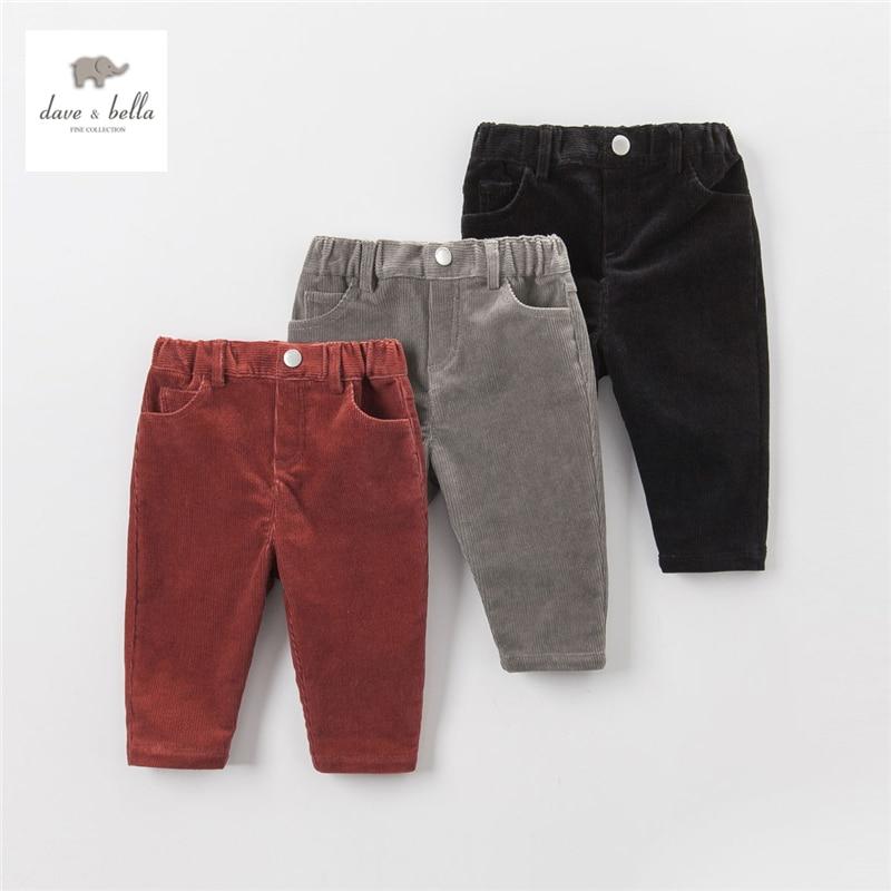 DB3849 dave bella  autumn baby pants babi trousers boys clothes infant pants toddle trousers sachin babi повседневные брюки