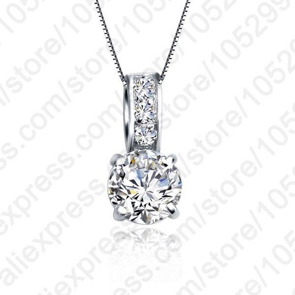 06c4447a2378 JEXXI moda mujeres boda joyería 925 plata esterlina claro cúbicos circón  colgante de collar