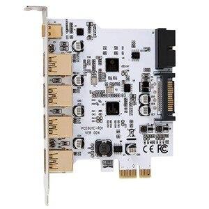 Карта расширения PCI-E Type C, с USB 3,0, PCI Express PCI-E на USB 3,0, контроллер, 5 портов, 1 порт, USB 3,1, адаптер PCI-E