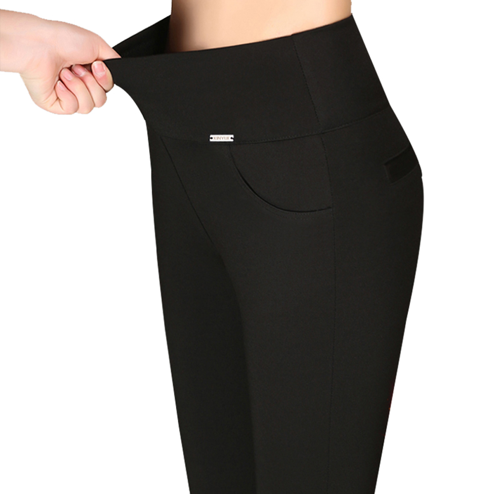 Legging Cotton Pants Capri Push-Up Workout Black White Femme Plus-Size Summer 5xl 6xl title=