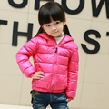 Ultra leve e fino 2016 novas crianças de moda para baixo casaco crianças down & parkas doce cor de 90% de pato para baixo meninas jaqueta