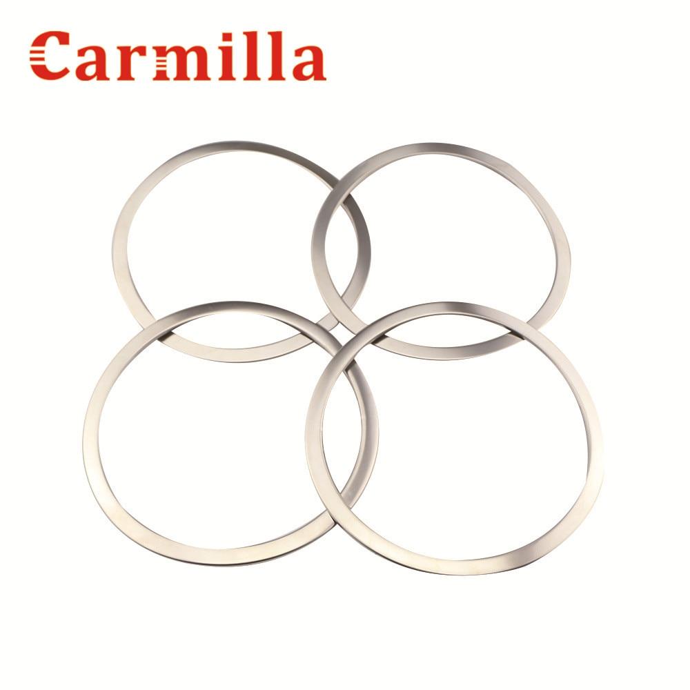 Carmilla z nerezové oceli auto styling dveře reproduktor reproduktor kroužek kryt reproduktoru dekorace ozdoba pro Nissan Qashqai J11 2014 2015 2016