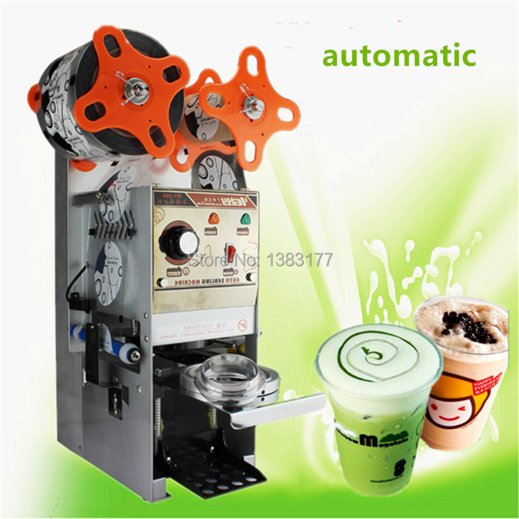 2019 new model commercial electric automatic cup sealer machine coffee, milk,bubble tea plastic cup sealing machine