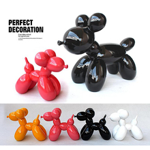 HOT Fashion Ballon Dog Ceramic Resin Crafts Sculpture Statues For Home Decoration Creative Gifts Modern Balloon Statue